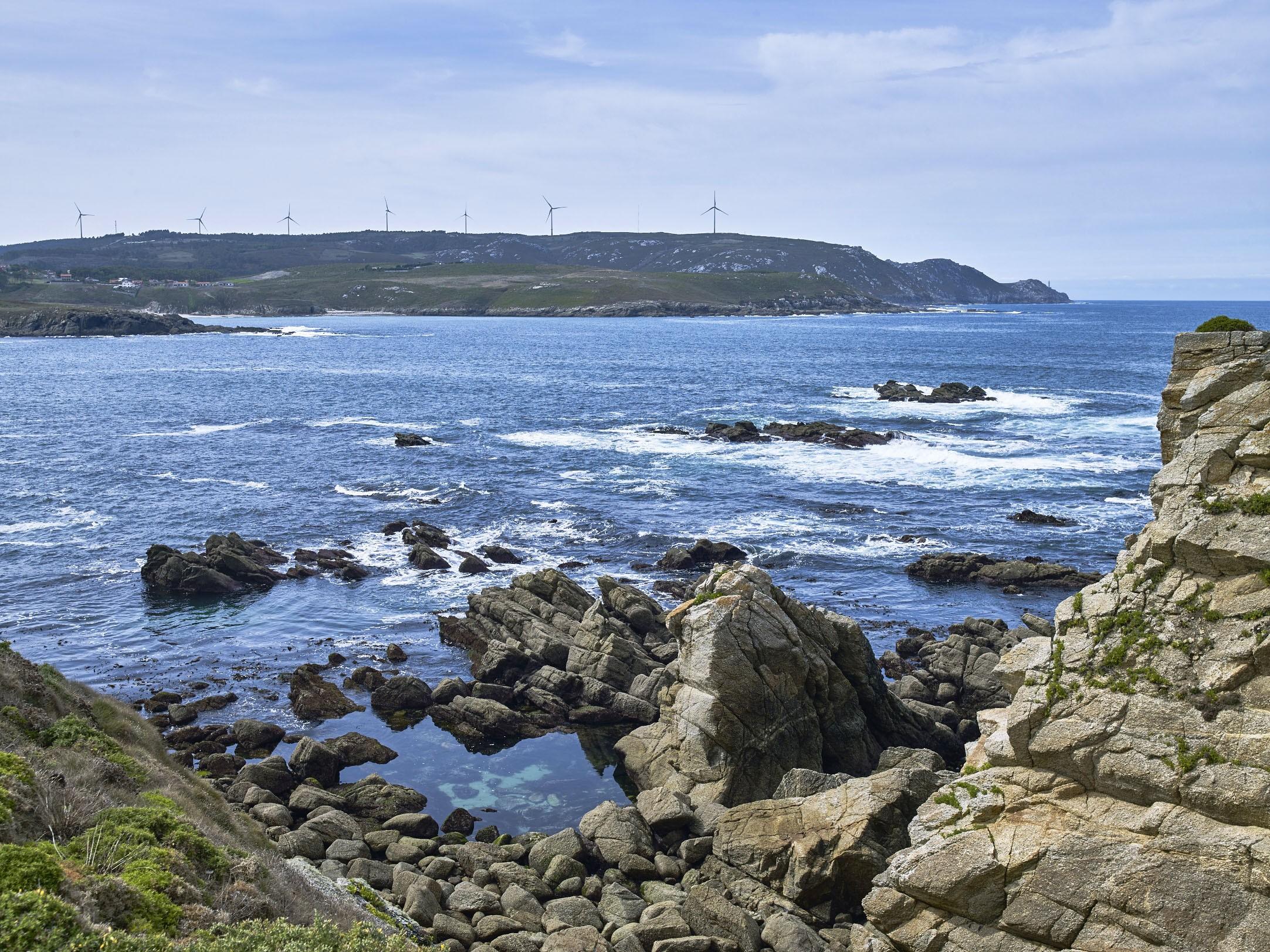 Parque eólico Malpica. Galicia