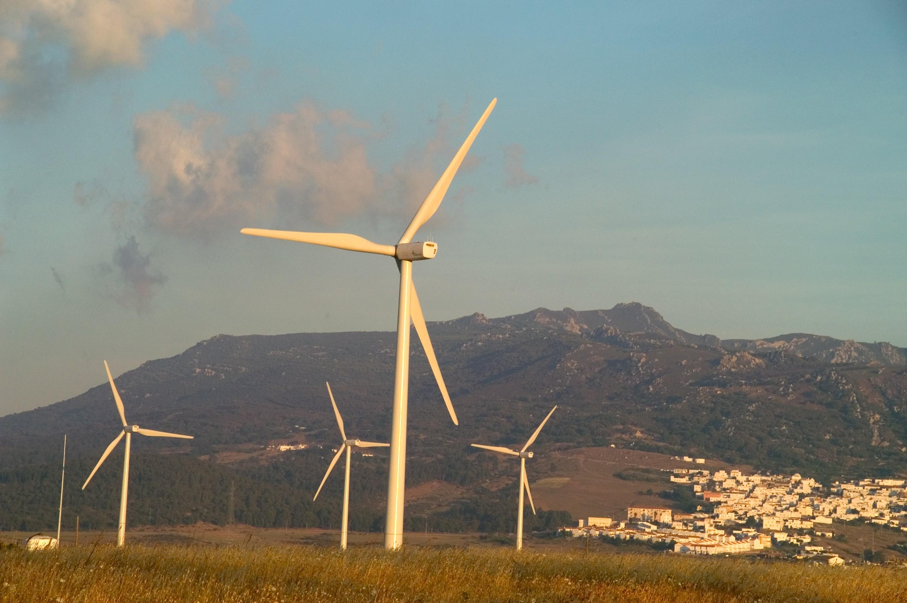 Parques eólicos La Herrería y Pasada de Tejeda. Cádiz