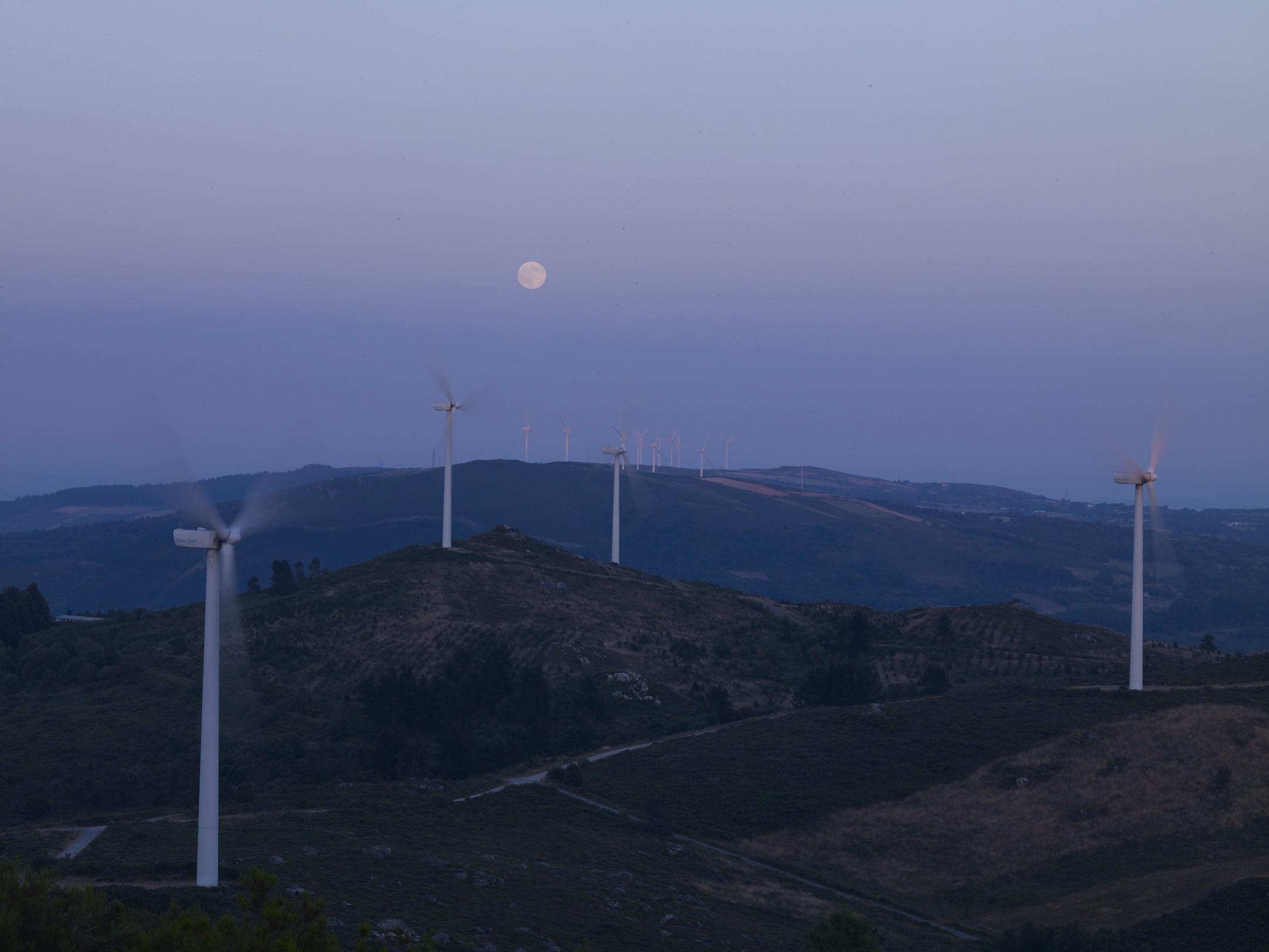 Parques eólicos Serras Faro-Farelo. Galicia