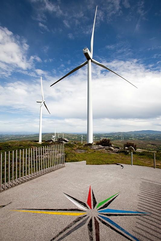 Complejo eólico Faro Farelo. Galicia