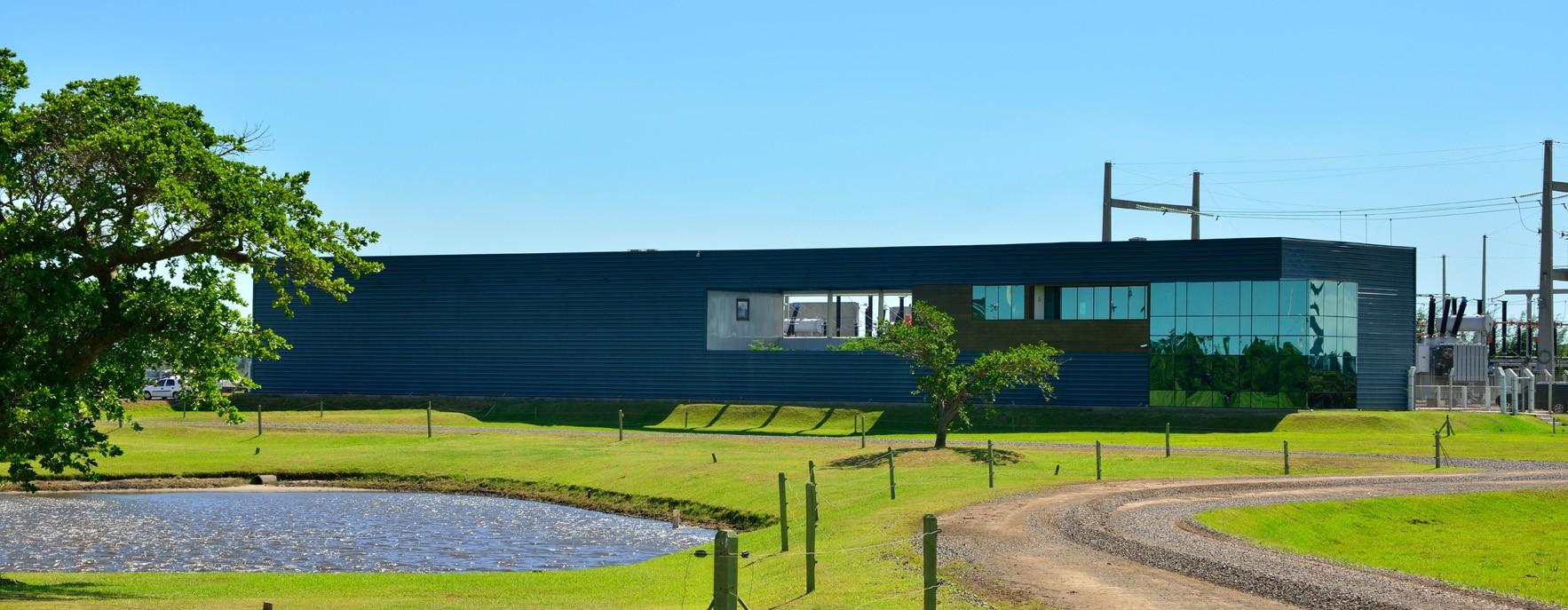 Centro de control y subestación en los parques eólicos de Osório. Brasil