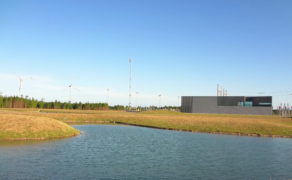 Centro de control. Parques eólicos Palmares. Brasil
