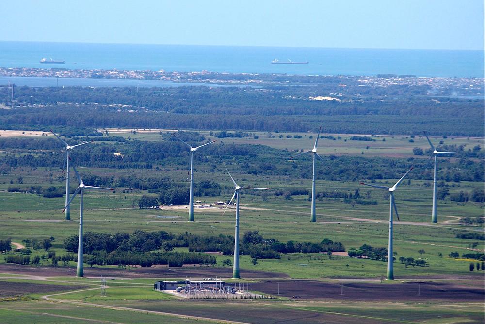 Parques eólicos de Osório. Brasil