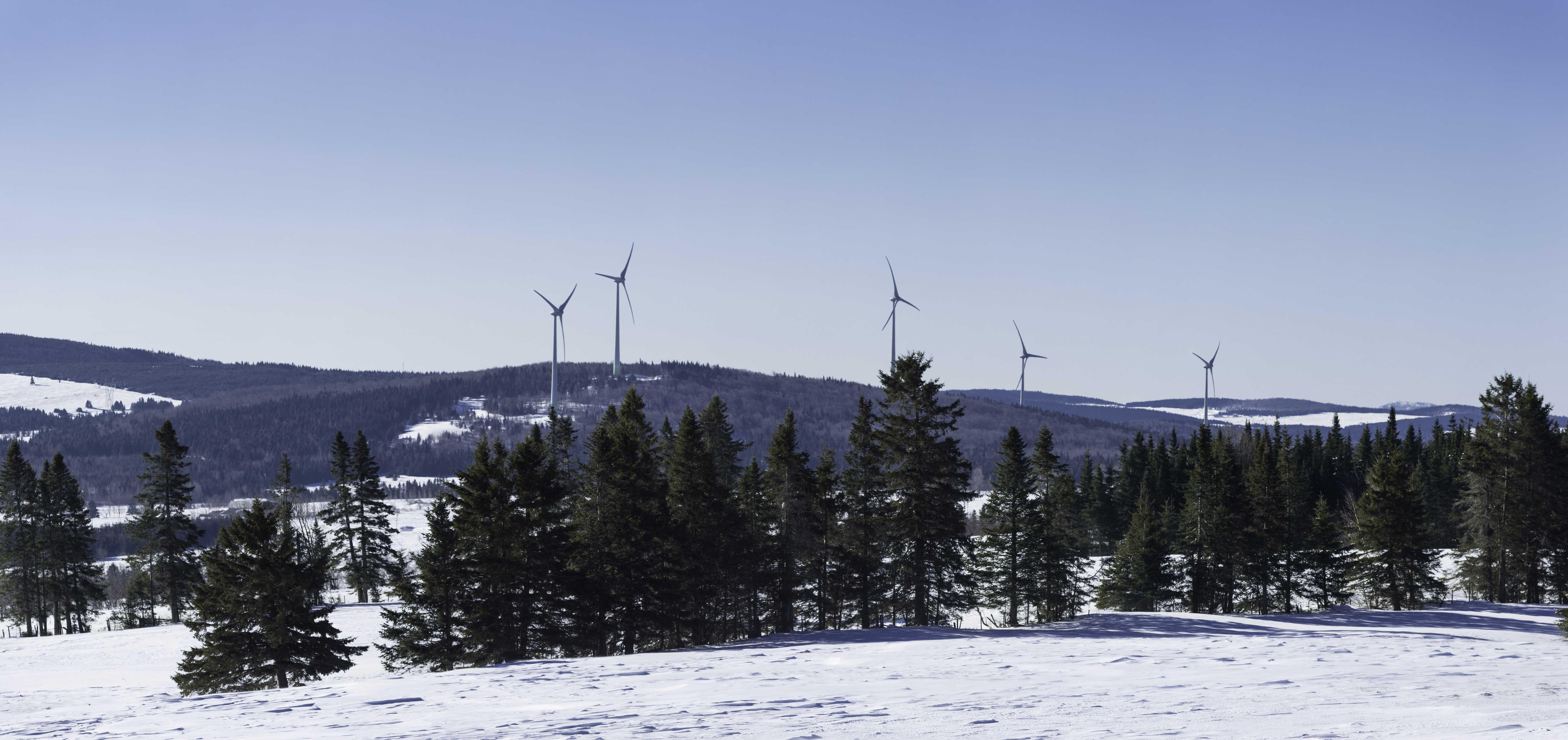 Parque eólico L'Érable en Québec (Canadá). Enerfin