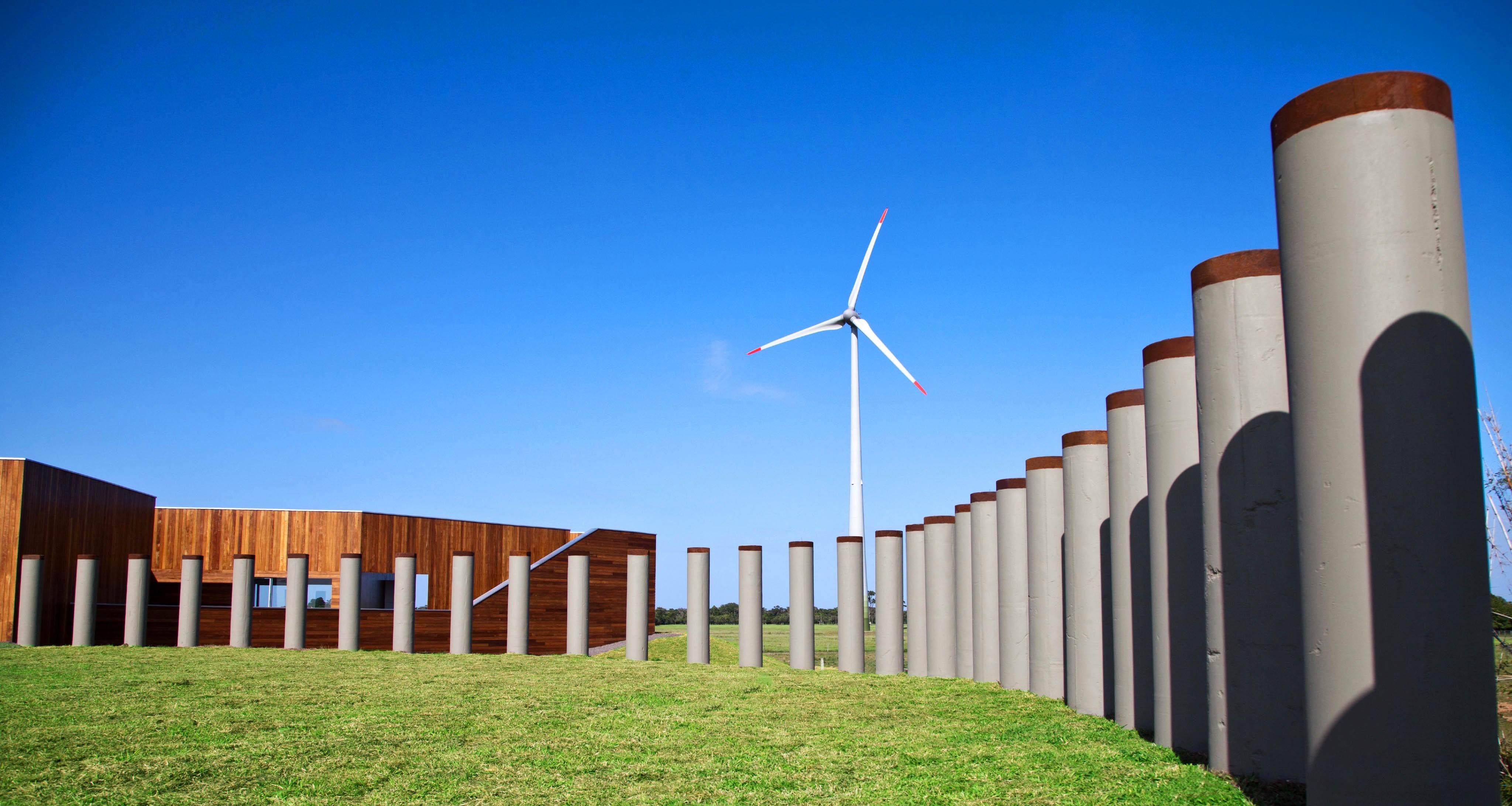 Auditorio parques eólicos de Osório. Brasil