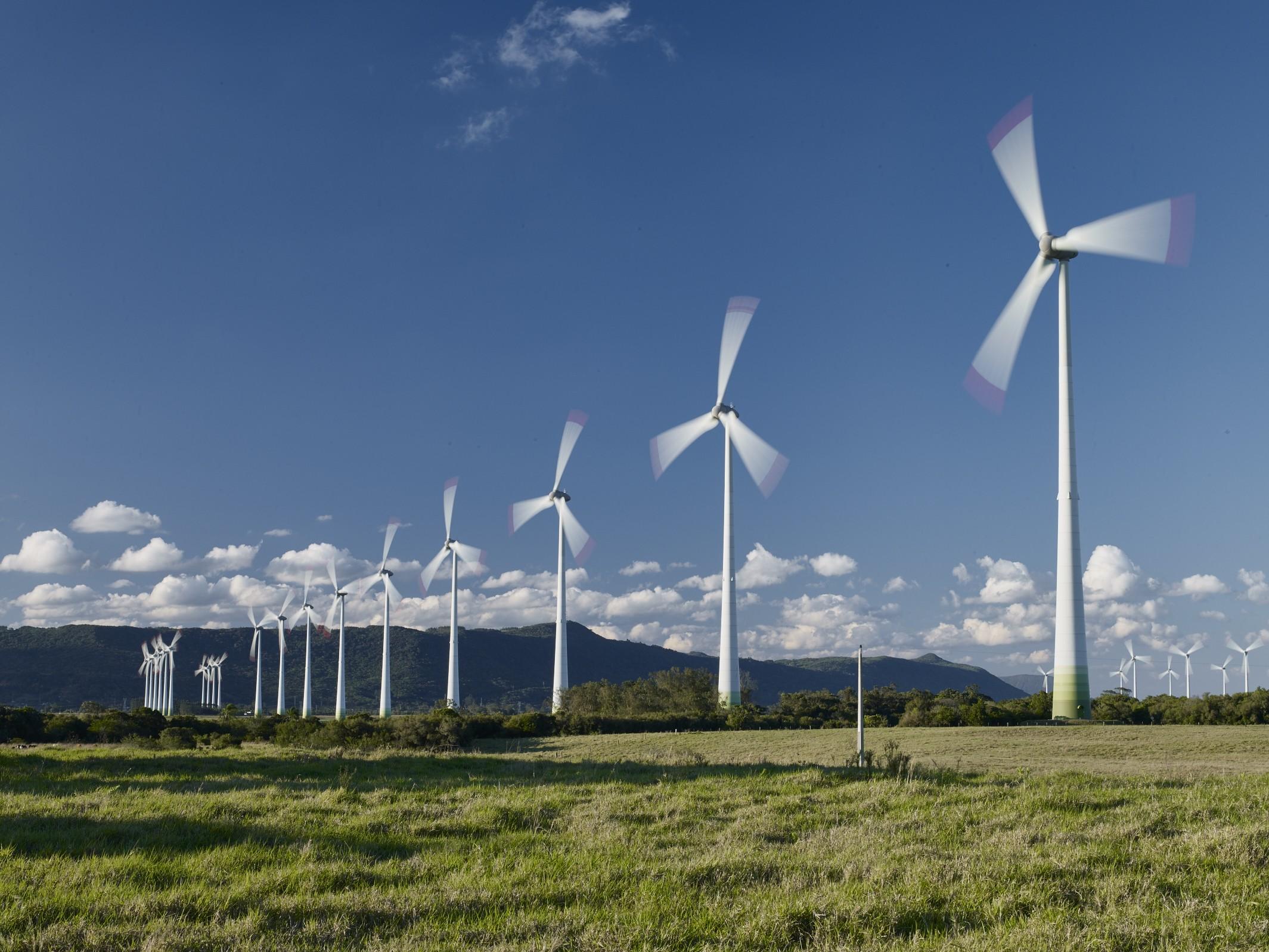 Parques eólicos Osório. Brasil