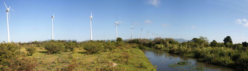 Parque eólico Osório. Brasil