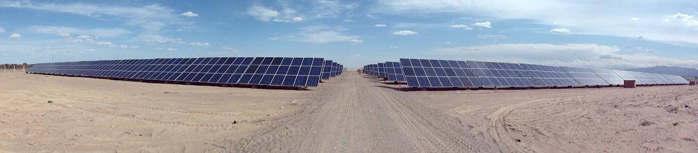 Parque solar fotovoltaico en San Juan. Argentina
