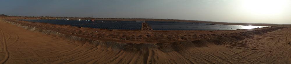 Parque solar fotovoltaico en Zouerate. Mauritania