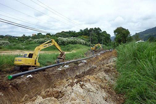 Construcción de gaseoducto Agudos-Lençóis Paulista/SP. Brasil