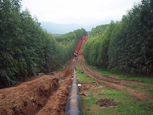 Construcción de gaseoducto UTE Baixada Fluminense/RJ. Brasil