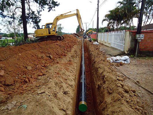 Construcción de gaseoducto en Criciúma/SC. Brasil