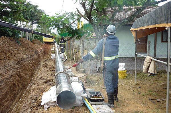 Construcción de gaseoducto Ponta Grossa/PR. Brasil