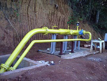 Construcción de gaseoducto Resende/RJ. Brasil