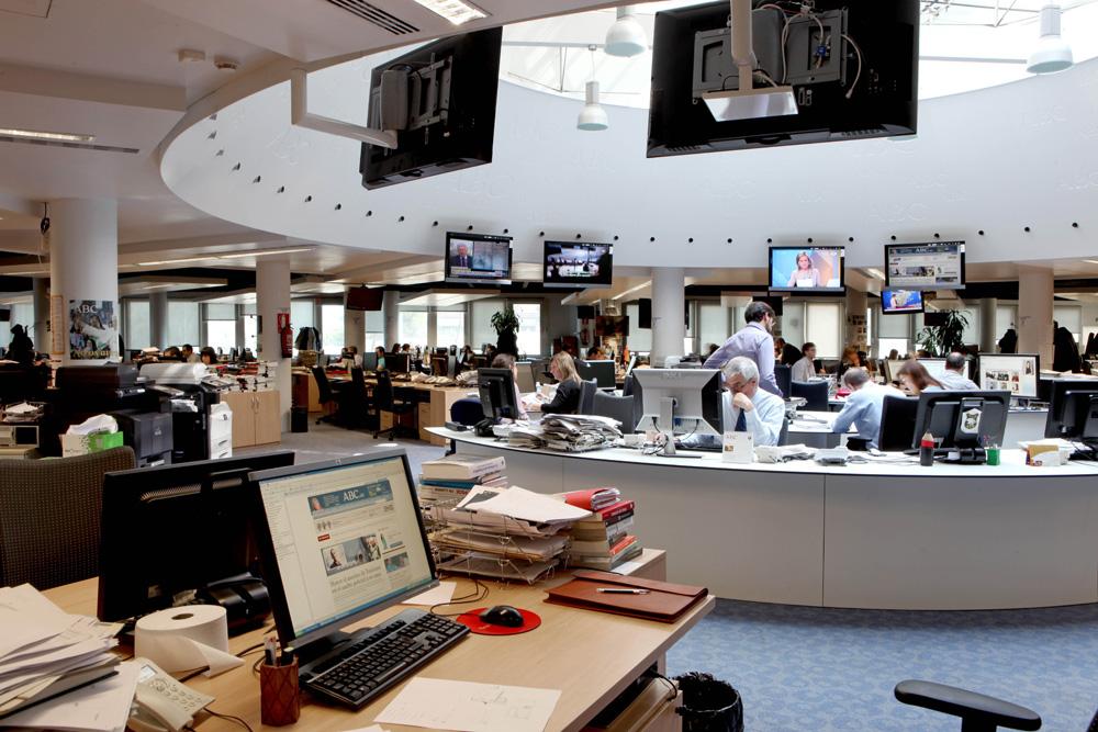 Maintenance de la rédaction du journal ABC. Madrid
