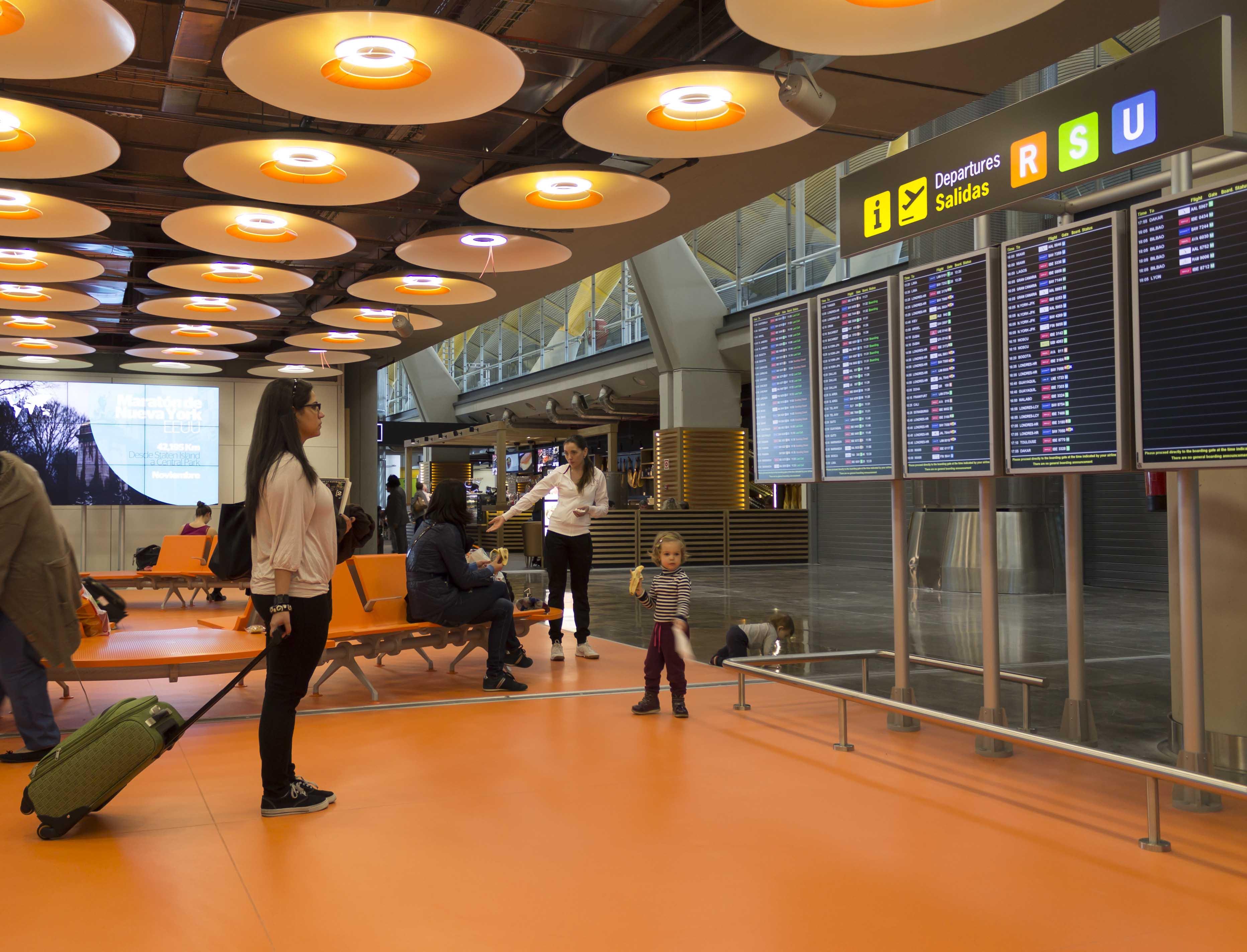 Le système d'information du public d'AENA (SIPA). Aéroport Adolfo Suárez Madrid-Barajas