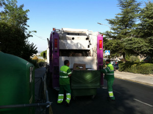 Collection and transporting of urban solid waste in Algete, Madrid (Spain)