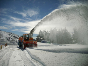 Snow cutter-blowers for snow clear-up operations