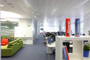 Installations at the Tuenti office in the Gran Vía building, Madrid (Spain)