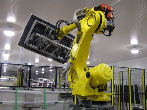 Framing robot at the Atersa factory in Almussafes, Valencia (Spain)