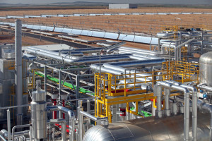 Astexol 2 solar thermal plant, Badajoz (Spain)