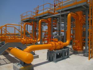 Position 9 of the Morelos gas pipeline (Mexico)